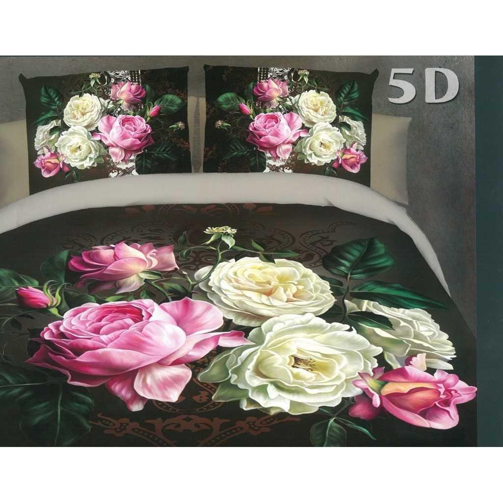 5D kytice růží bílorůžová