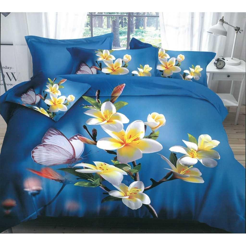 5d modré motýl na květu