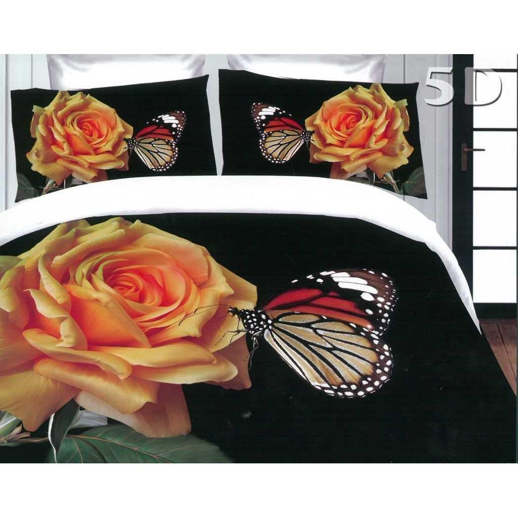 Žlutá růže s motýlem