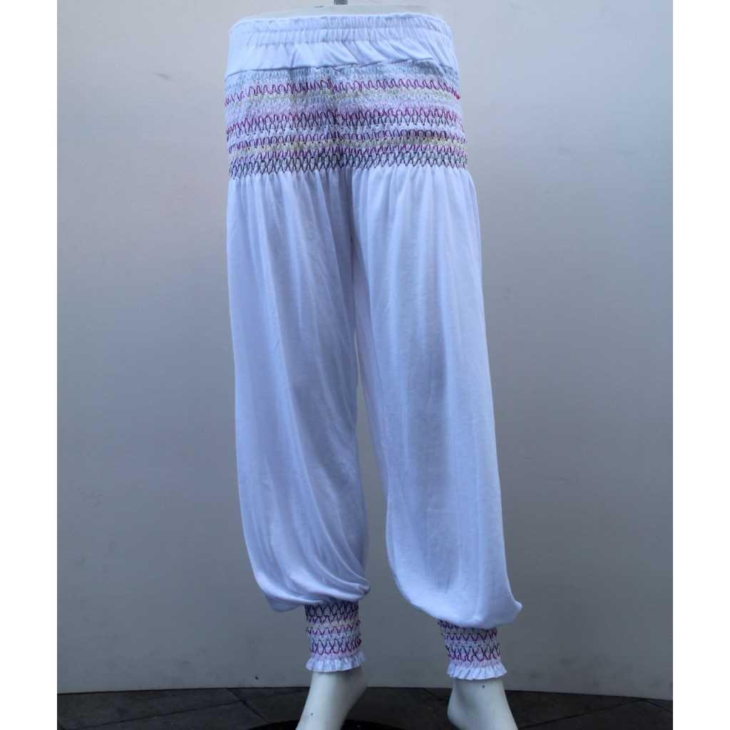 Kalhoty typu Aladinky bílé
