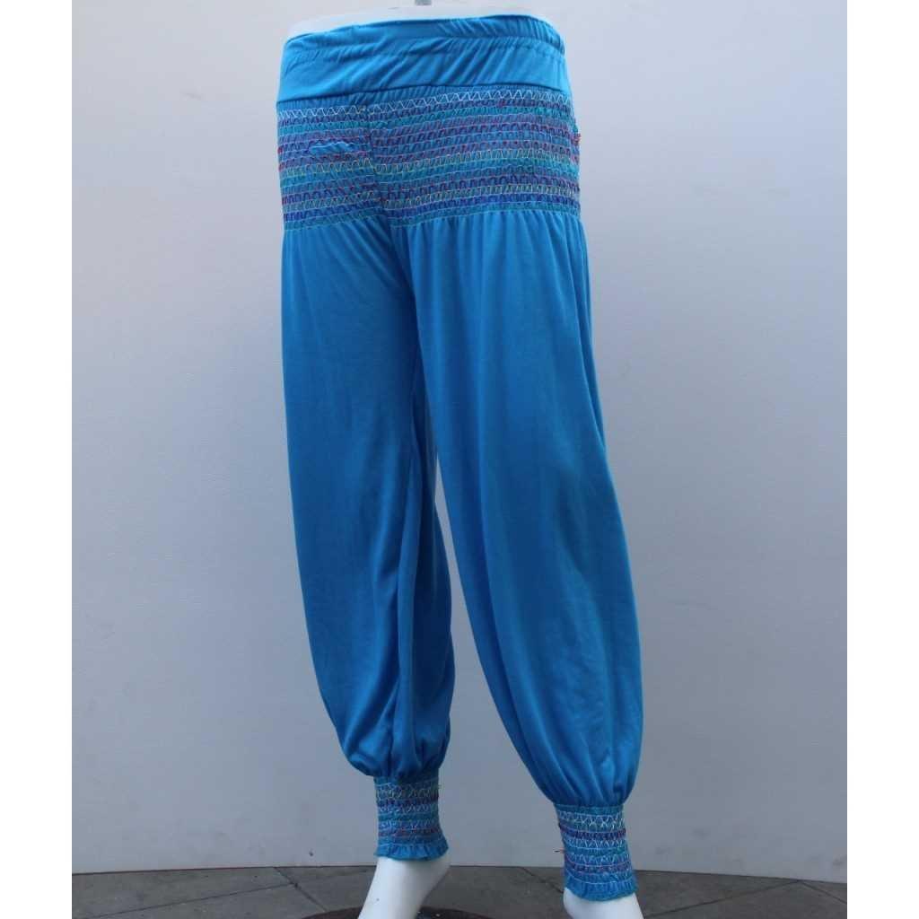 Kalhoty typu Aladinky modré