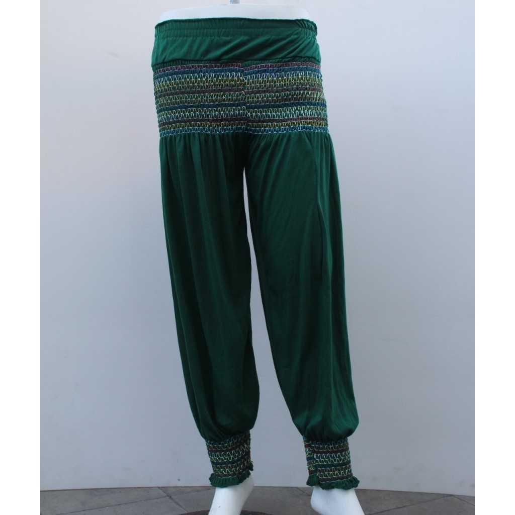 Kalhoty typu Aladinky zelené