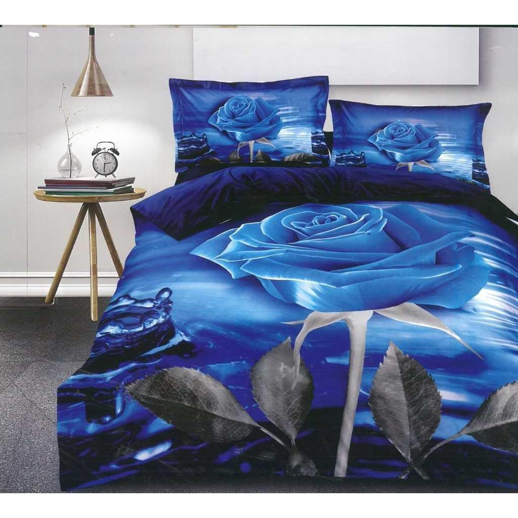 Modrá růže a voda