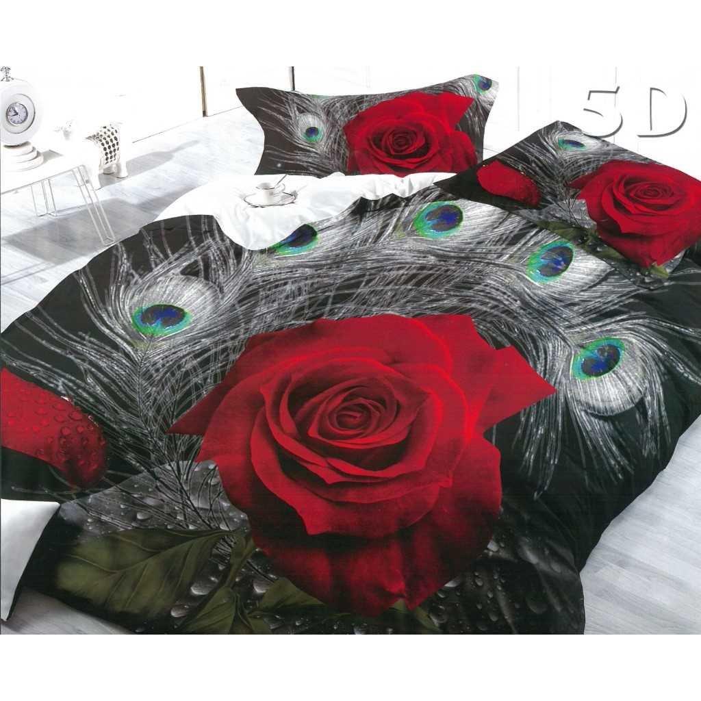 Růže a paví peří