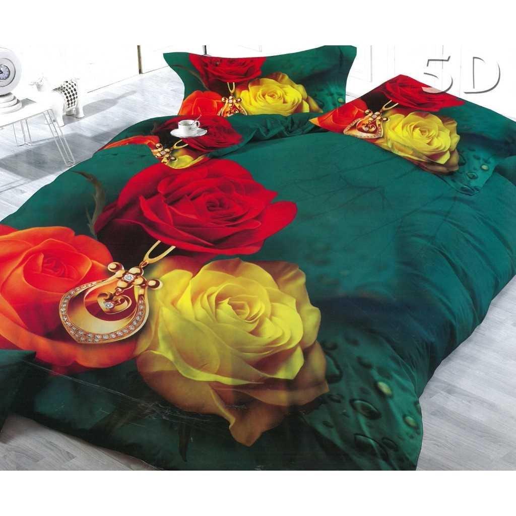 Zelené se třemi růžemi