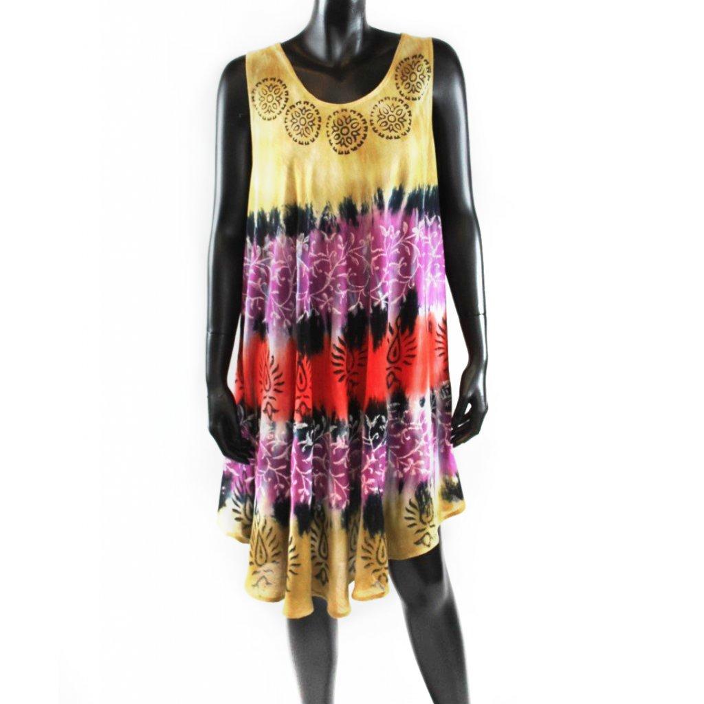 Batikované šaty vz.1 béžové