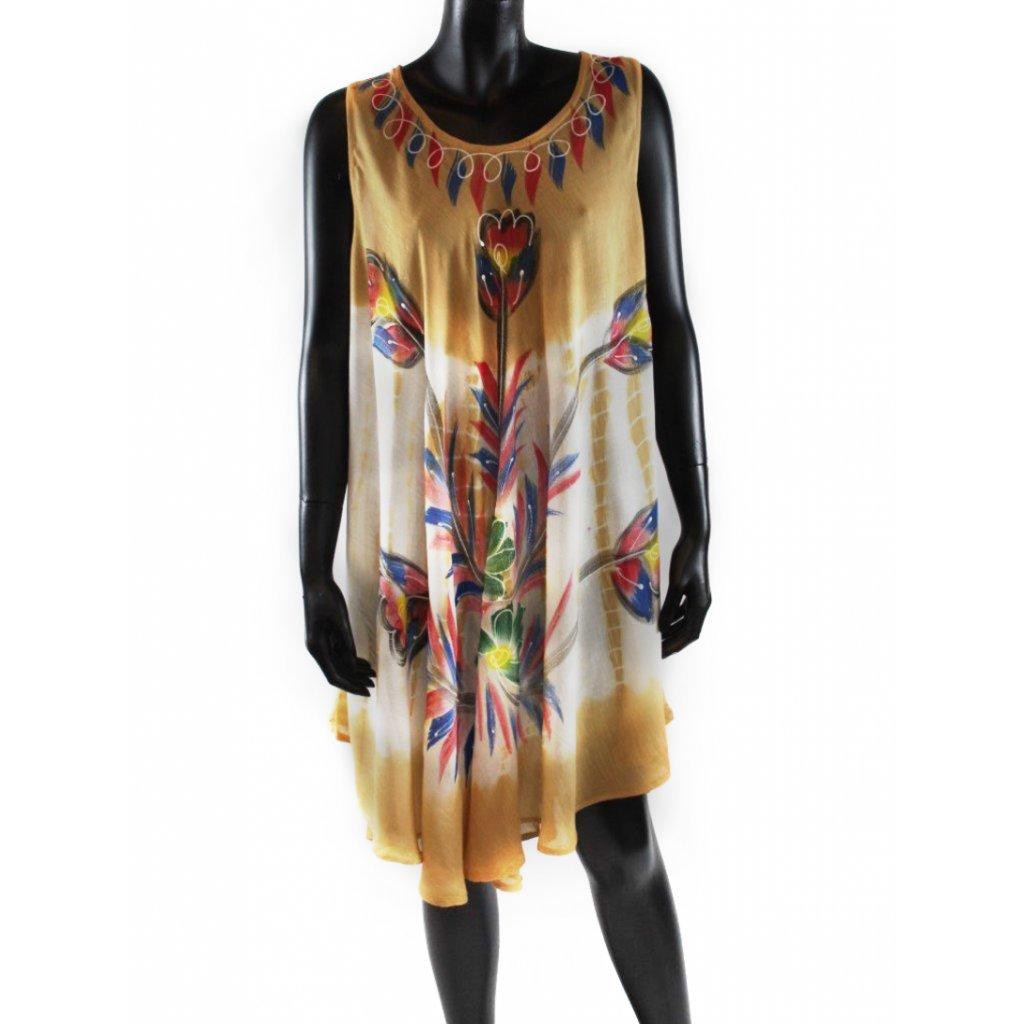 Batikované šaty vz.2 béžové