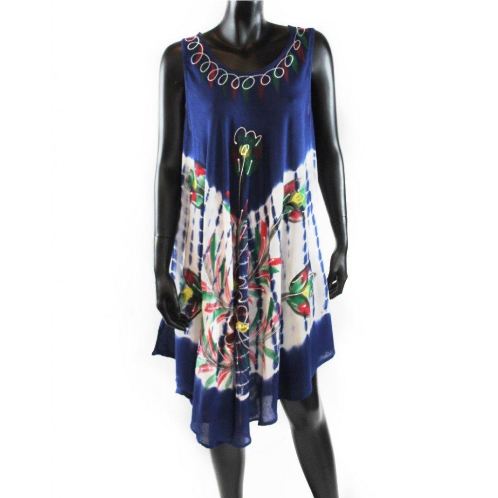 Batikované šaty vz.2 modré