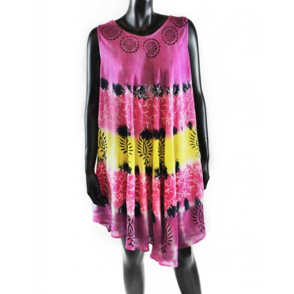 Batikované šaty vz.1 fialové