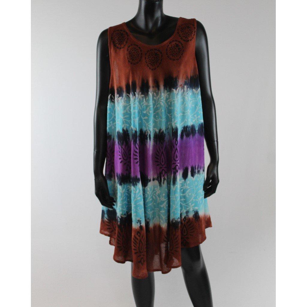 Batikované šaty vz.1 hnědé