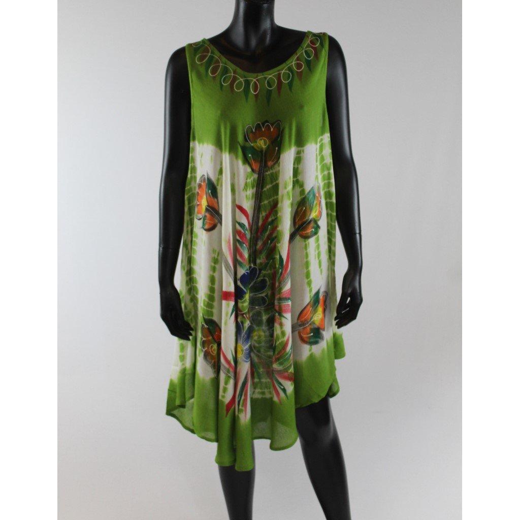 Batikované šaty vz.2 zelené