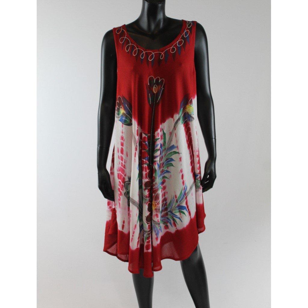 Batikované šaty vz.2 červené
