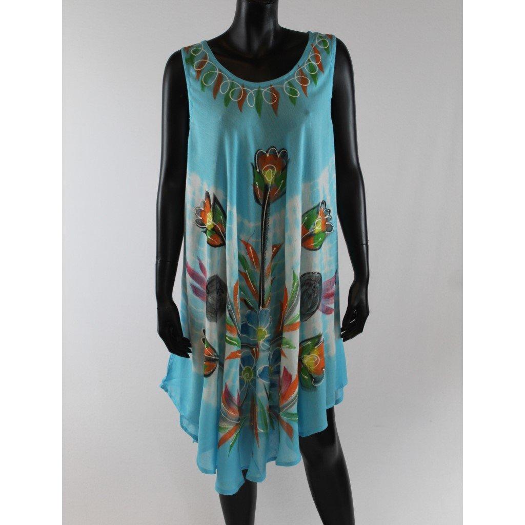 Batikované šaty vz.2 světle modré