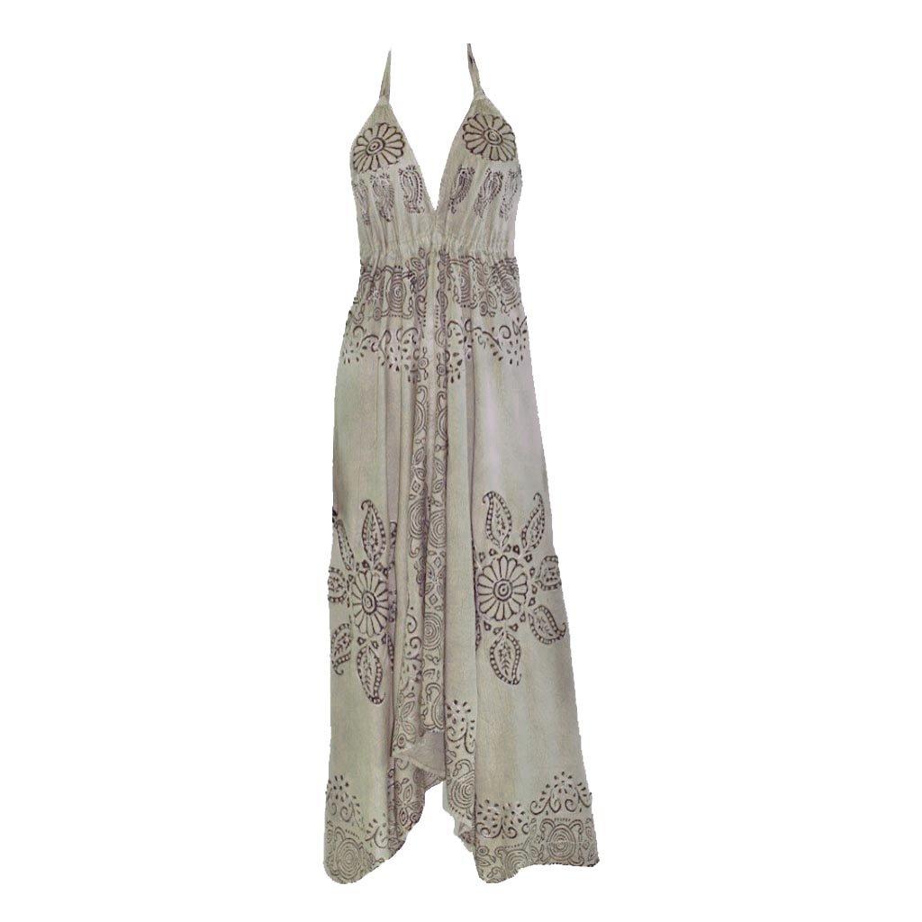 Šaty šedé asymetrické