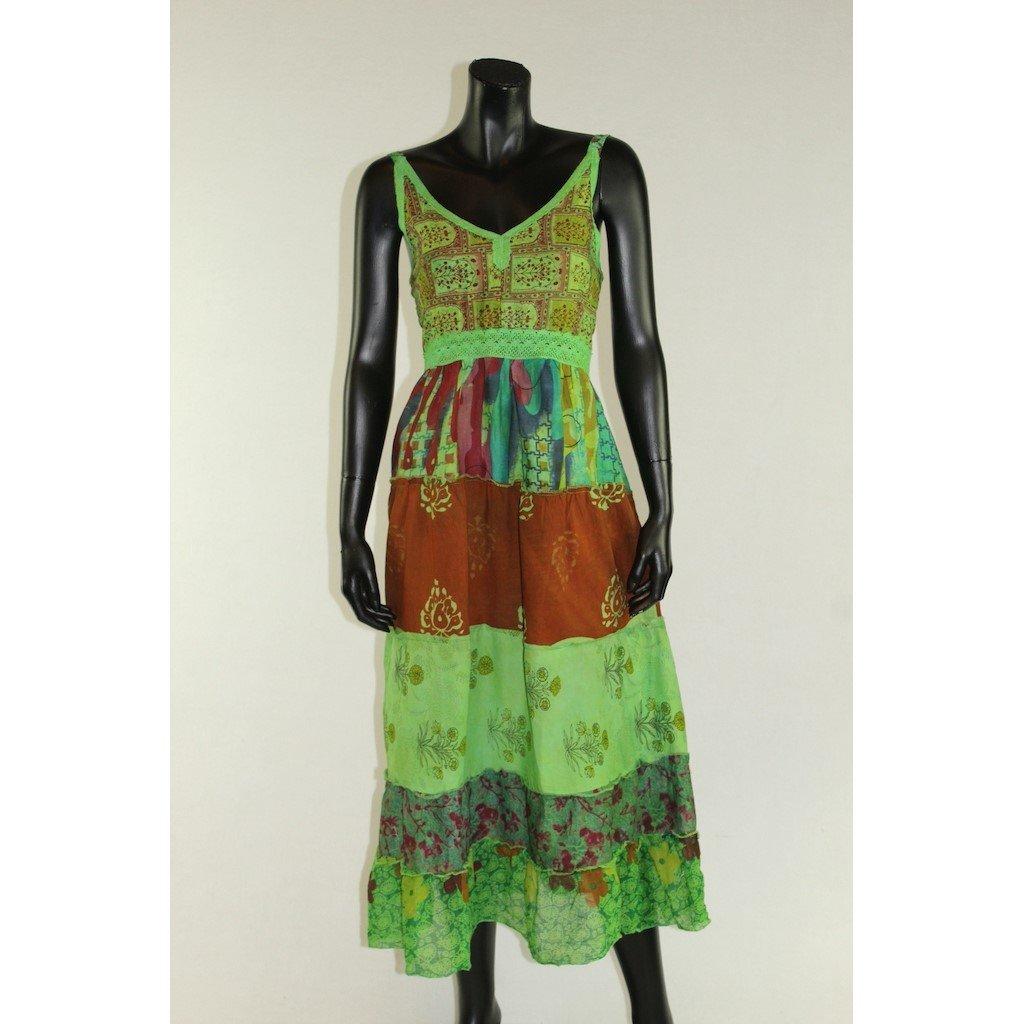 šaty na ramínka zelené