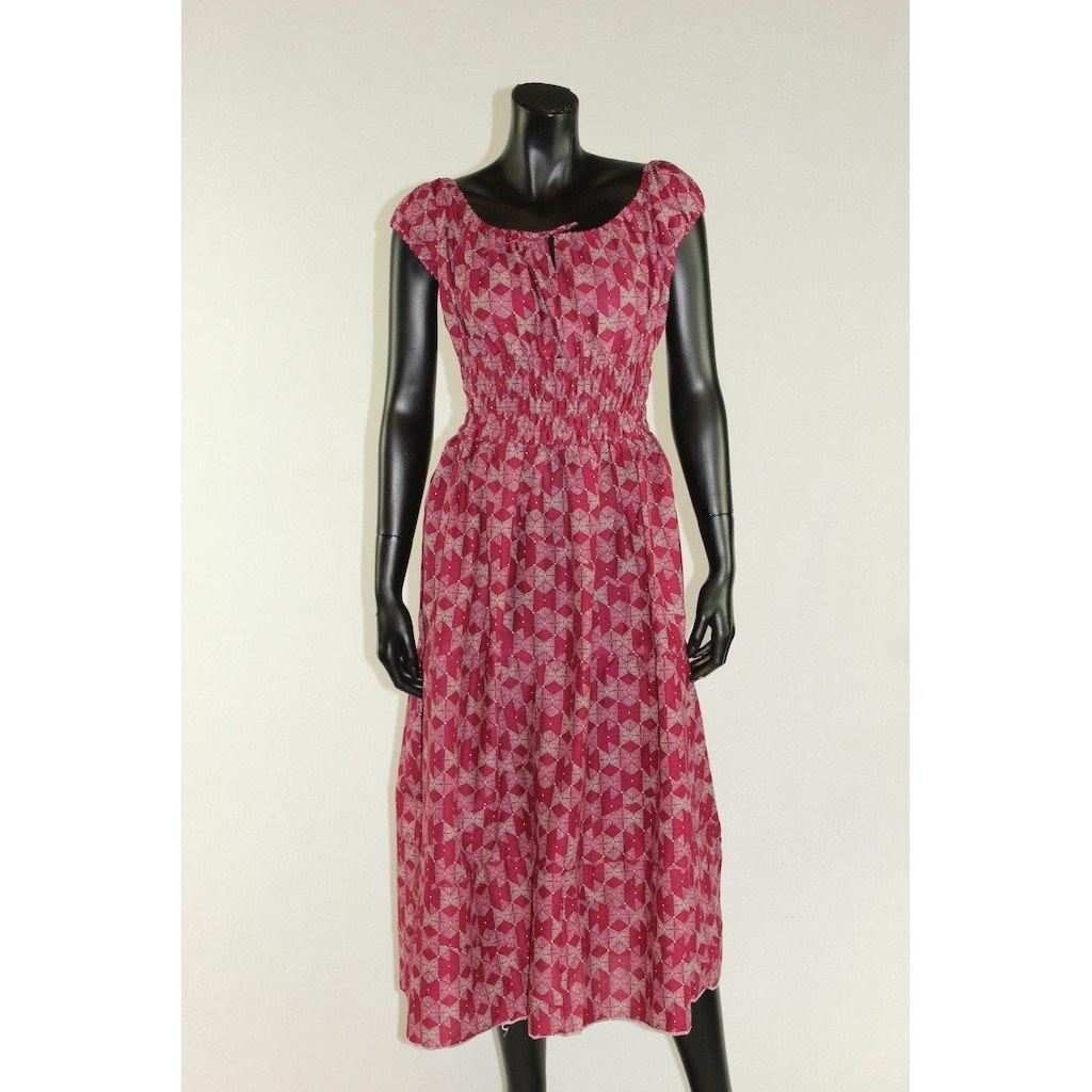šaty s žebrováním červené