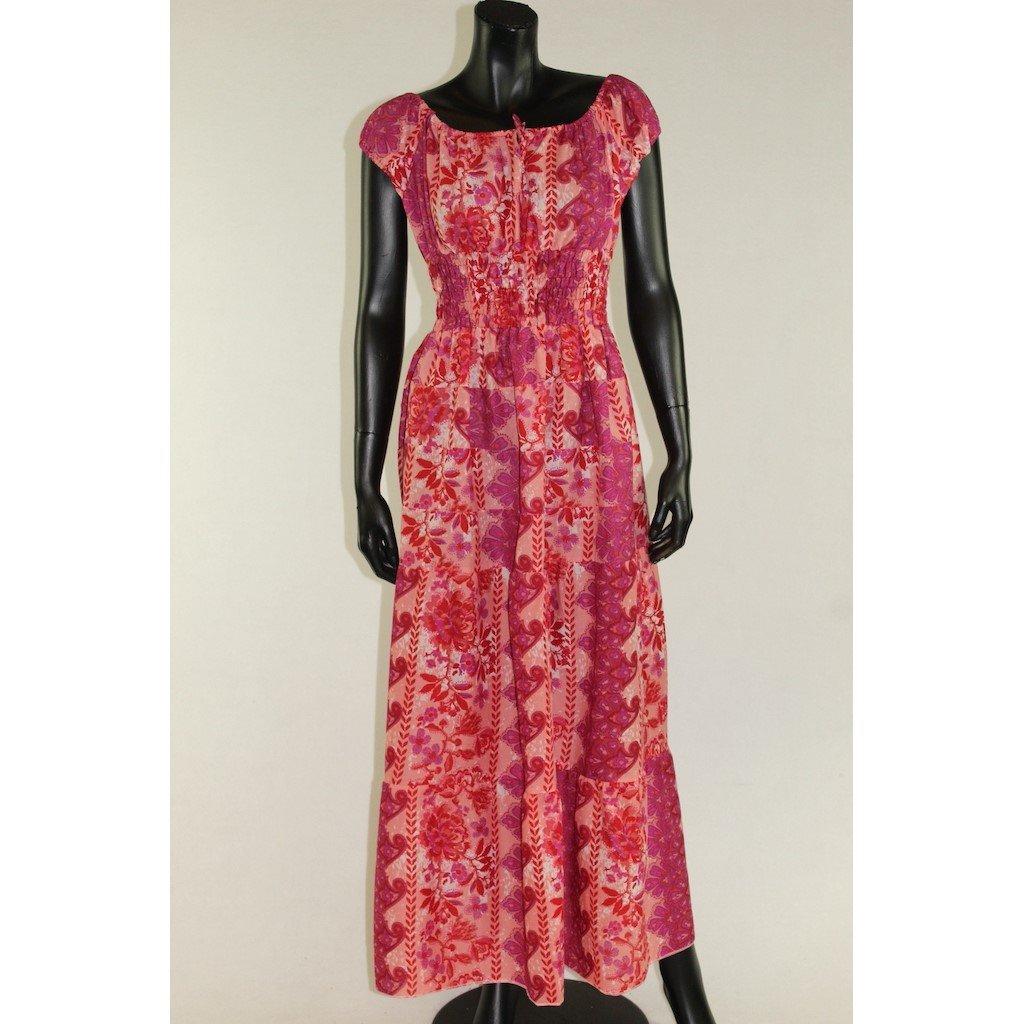 šaty s žebrováním růžové