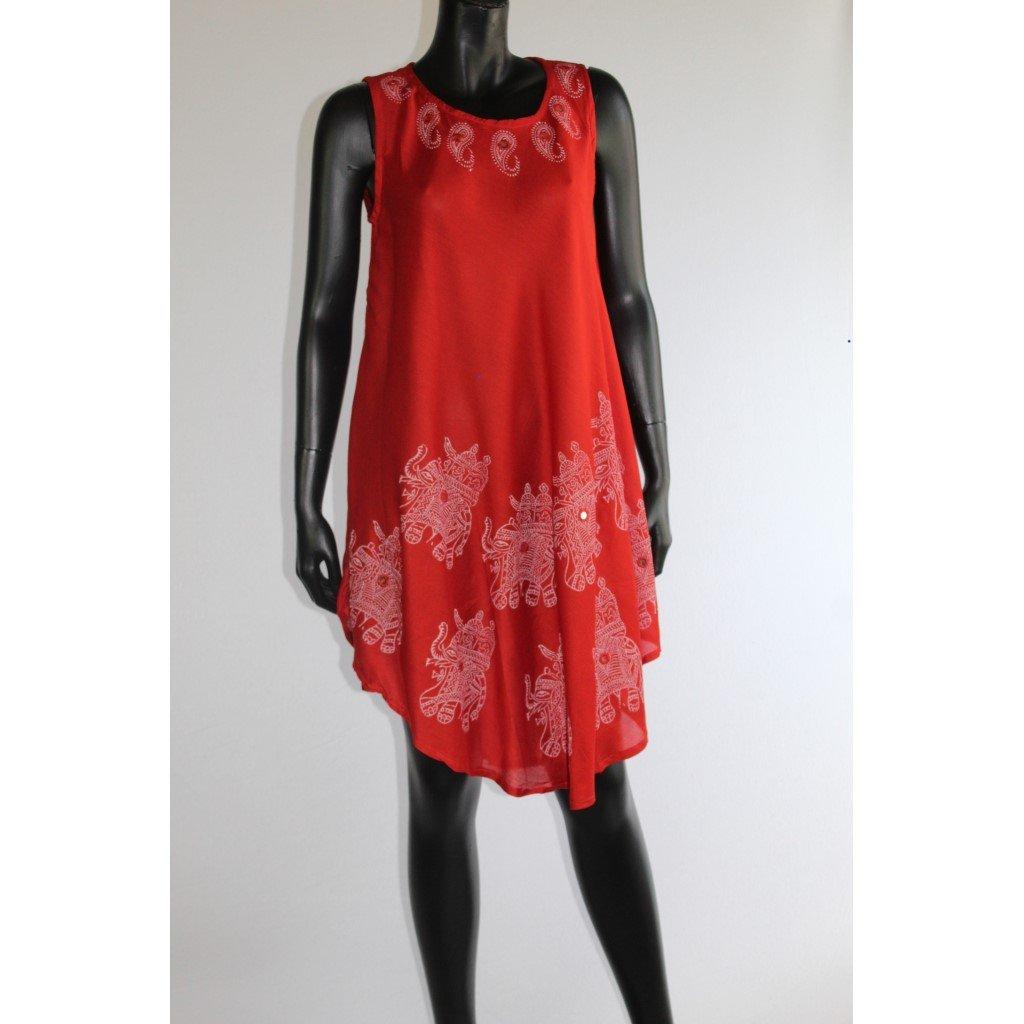 šaty červené slon