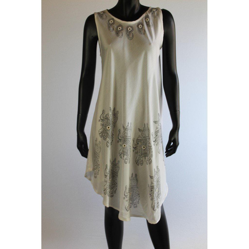 šaty bílé slon