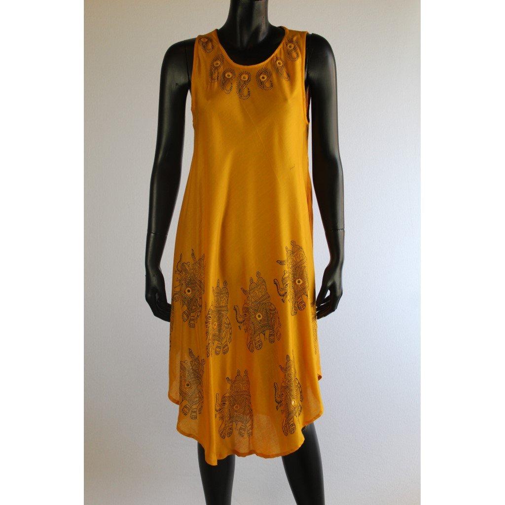 šaty žluté slon