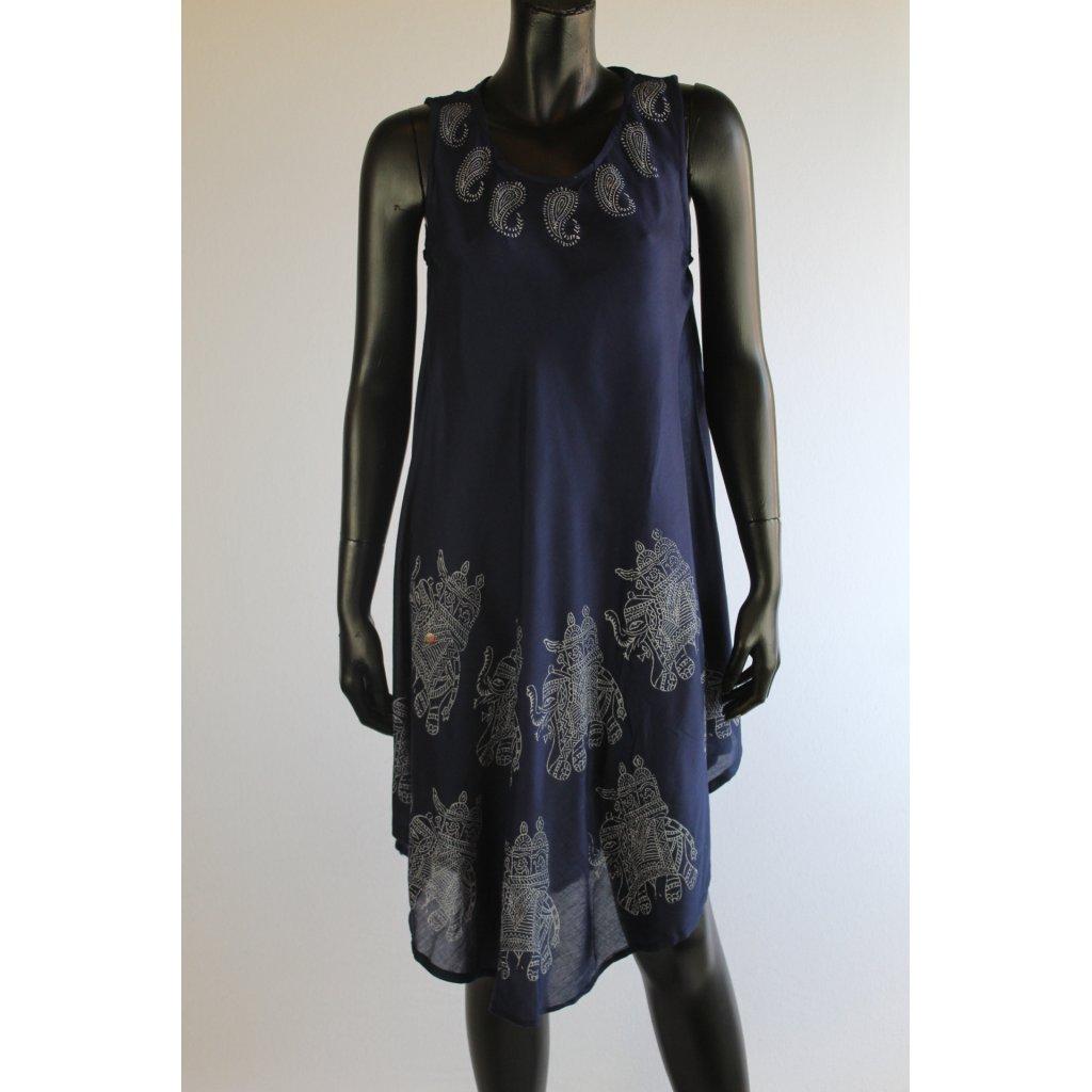 šaty modre slon