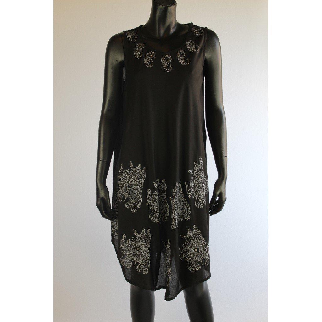 šaty černé slon