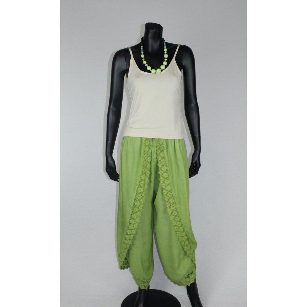 kalhotová sukně zelená