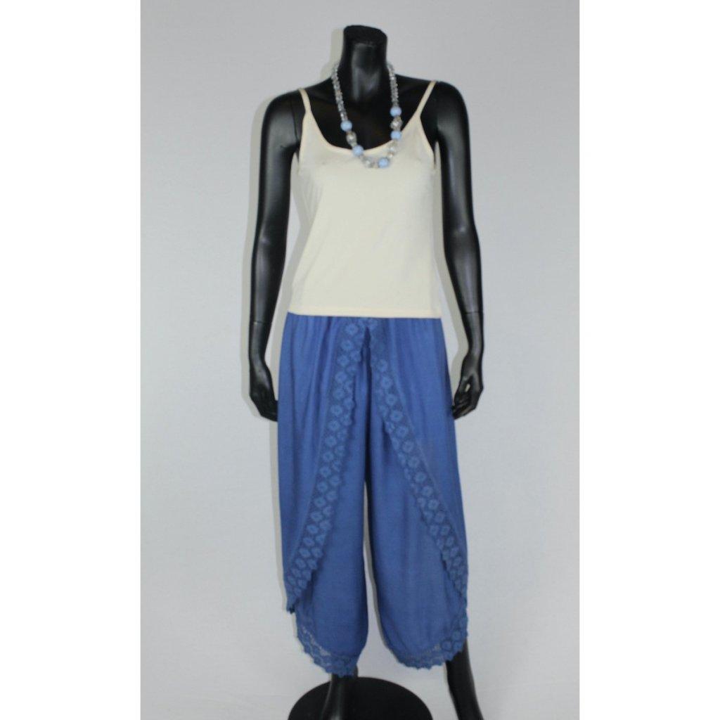 kalhotová sukně modrá