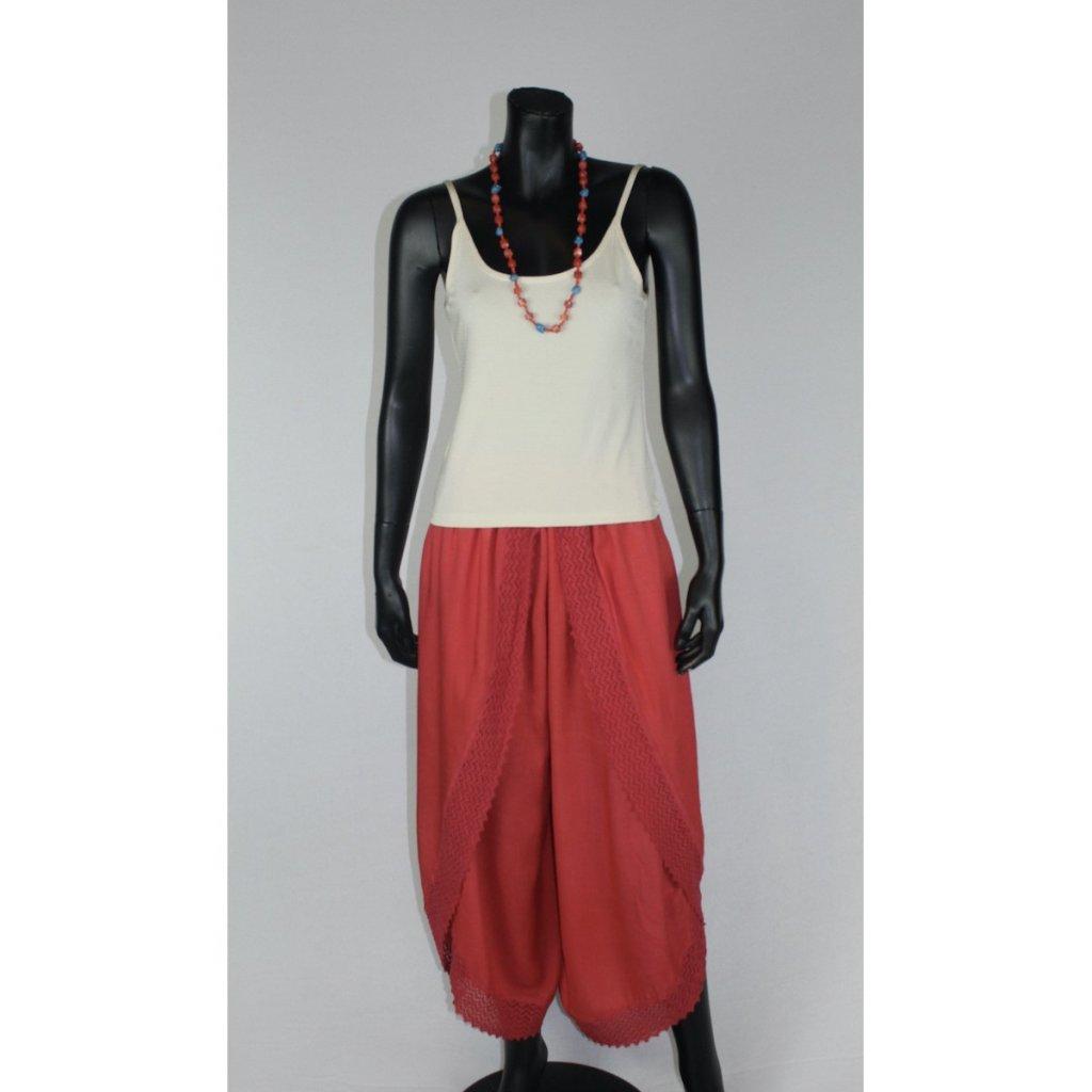 kalhotová sukně červená