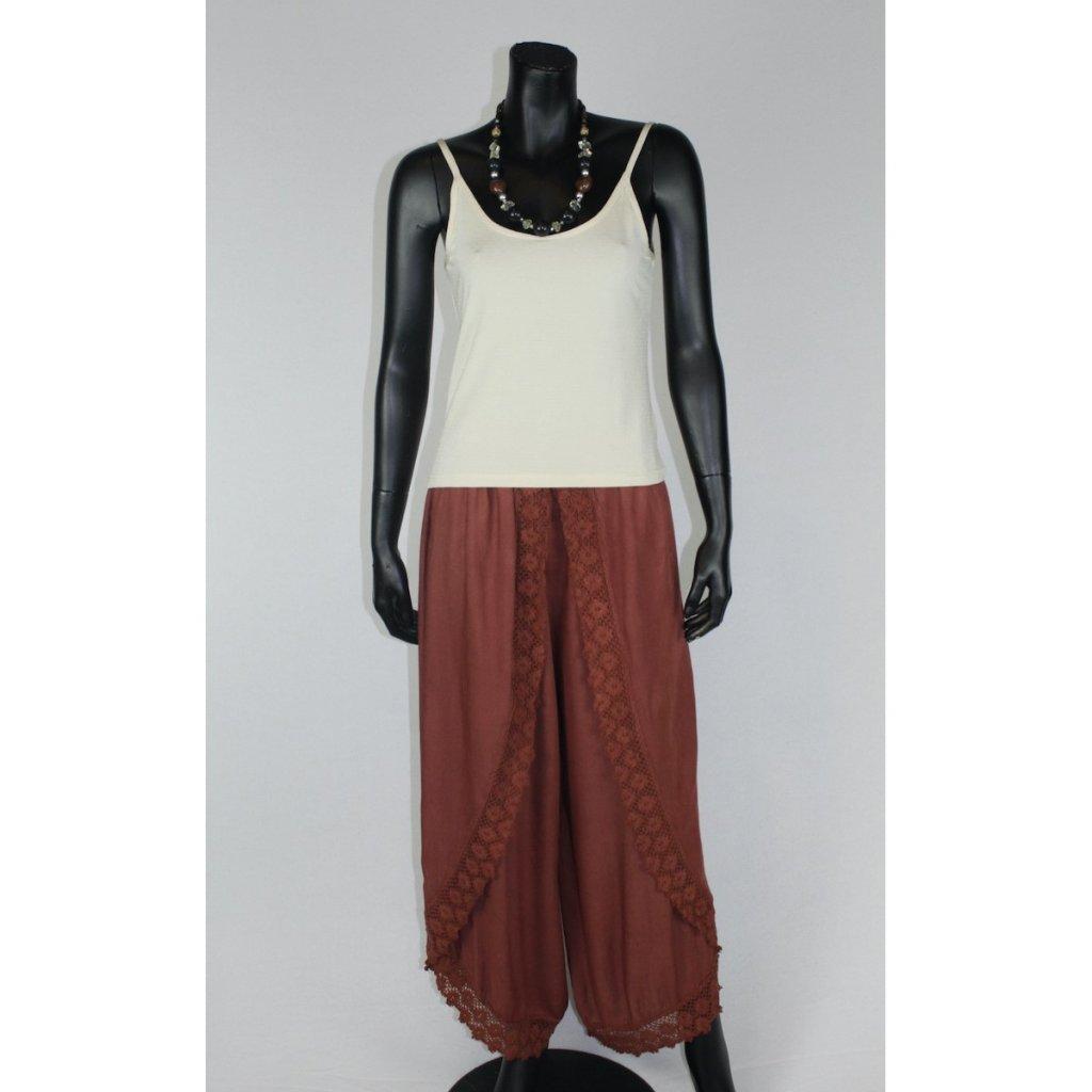 kalhotová sukně hnědé
