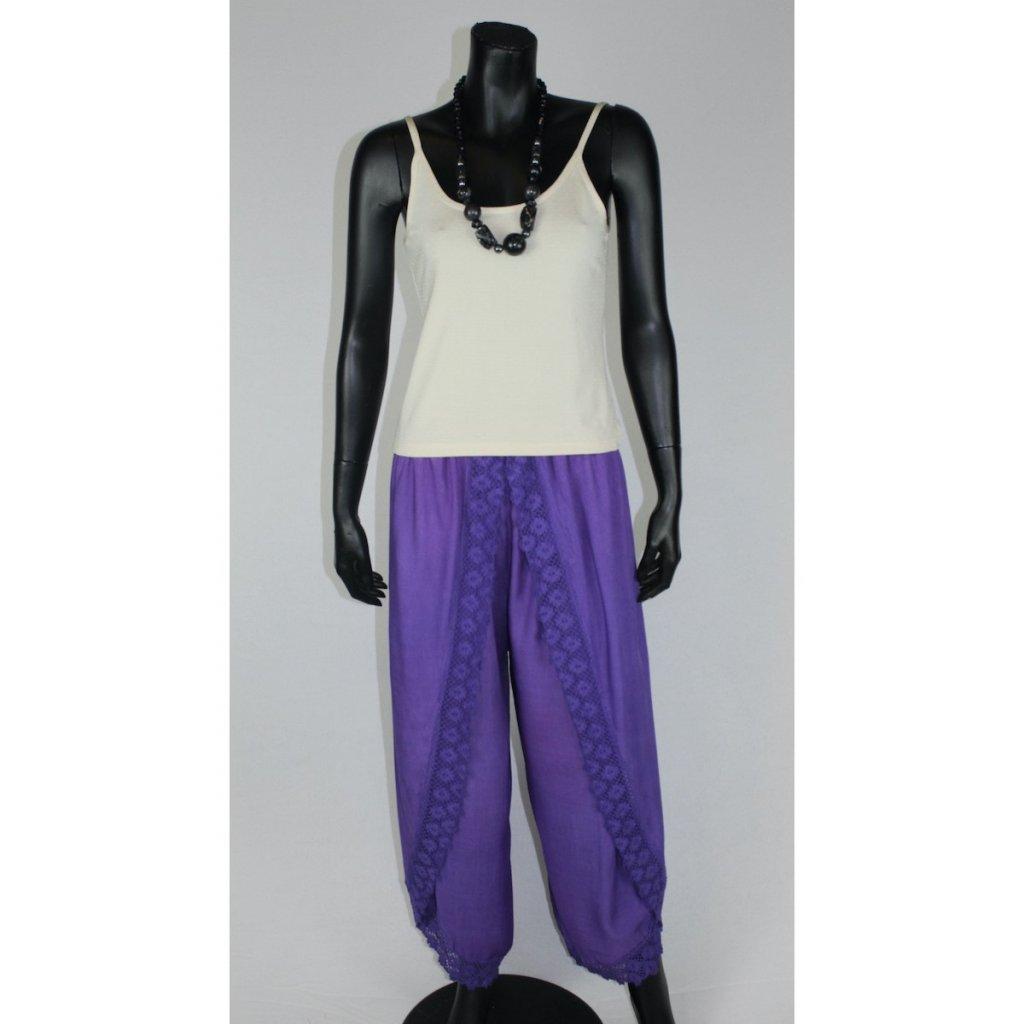 kalhotovásukně fialová