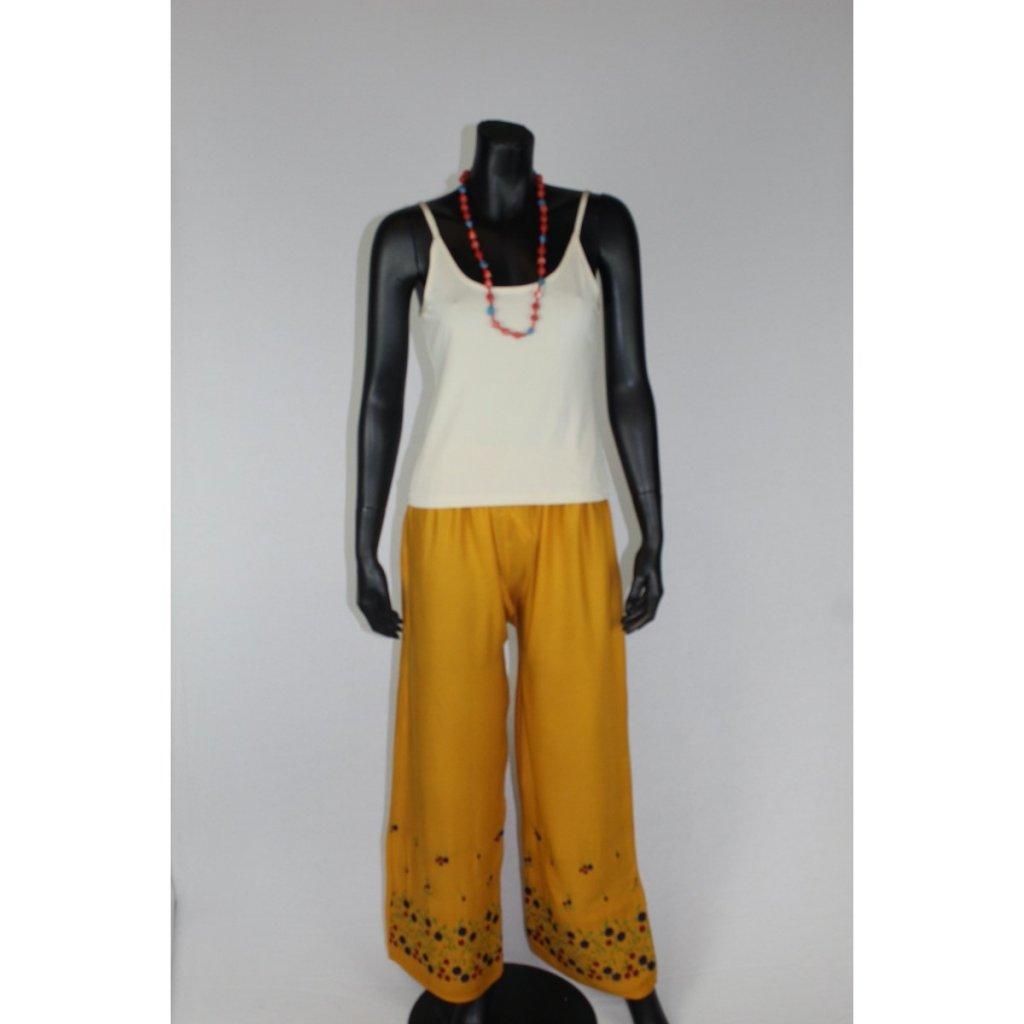 Kalhoty oranžové vz2