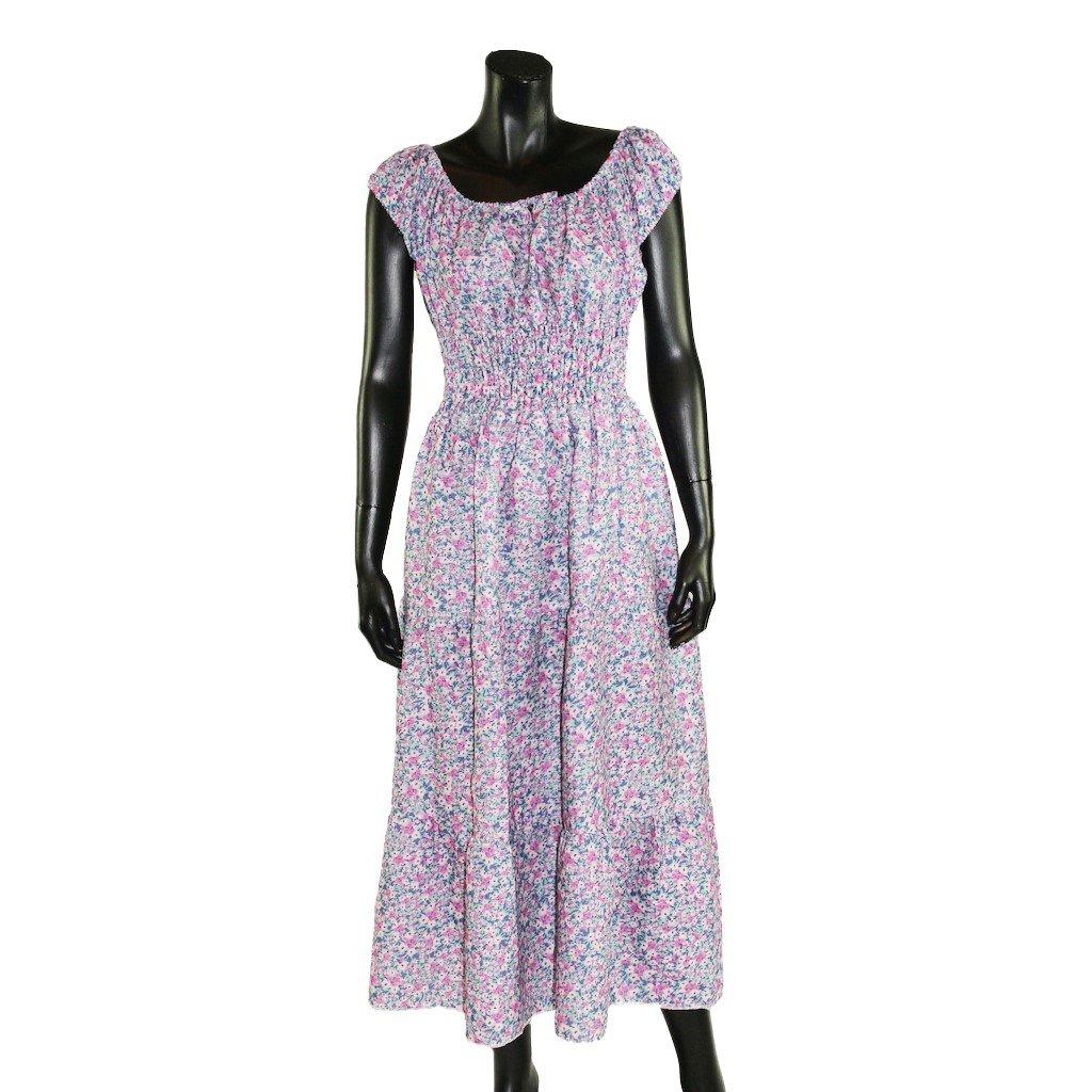 Šaty s žebrováním drobné kvítka