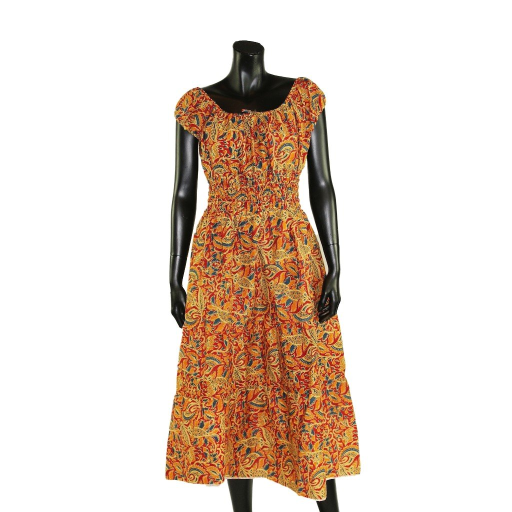 Šaty s žebrováním oranžové