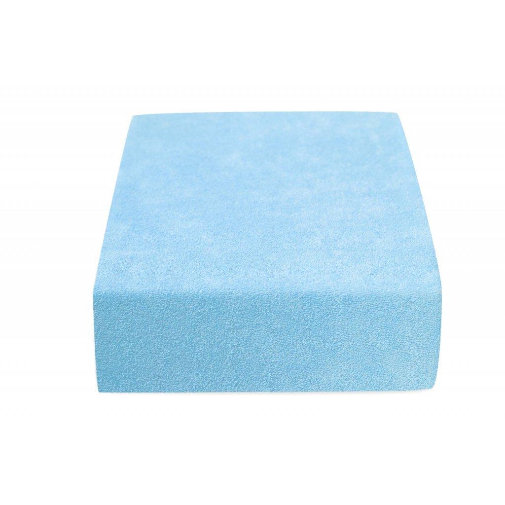 6759 prosteradlo bavlnene frote dvouluzko 180 x 200 cm modre