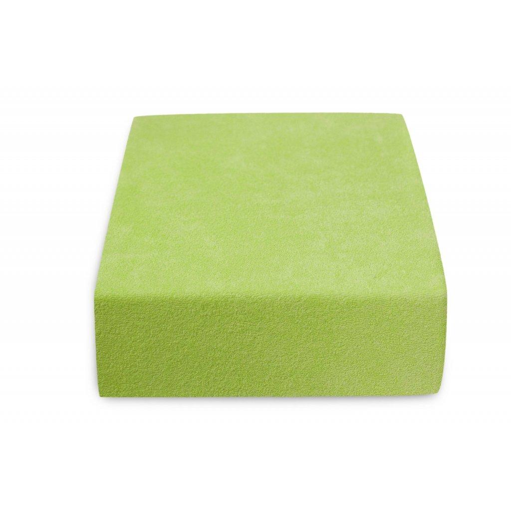 51023 prosteradlo bavlnene frote jednoluzko 90 x 200 cm zelene