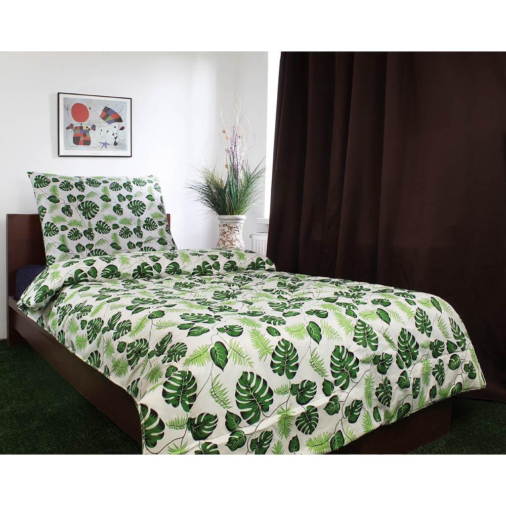 Prikrývka a polštář Zelené listí