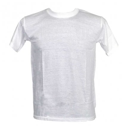 Levné tričko UNISEX nižší gramáž bílá barva