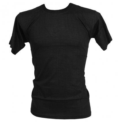 Levné tričko UNISEX nižší gramáž černá barva