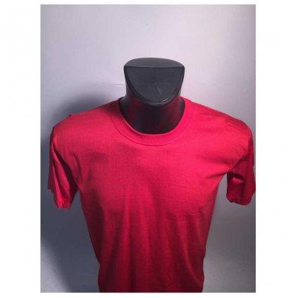 Levné tričko UNISEX nižší gramáž červená barva