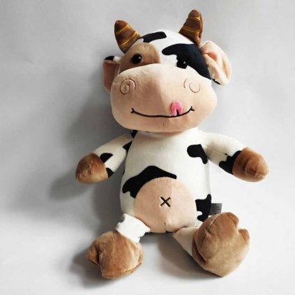 Dětský polštář 4D kravička strakatá 47 cm