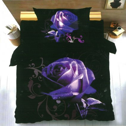 3D Fialová růže