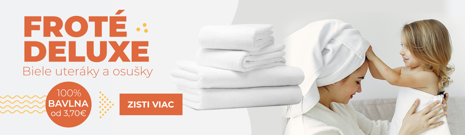 Biele froté DELUXE uteráky a osušky