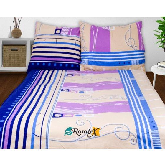 Obliečky AGLAE fialová Flanel 70x90 140x200 cm