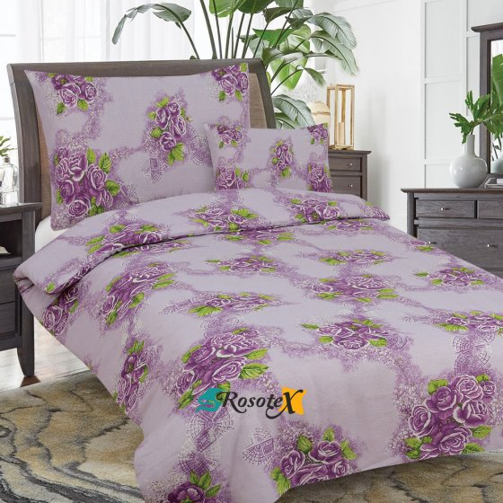 Obliečky ROSE MARRY  fialová  Bavlna 70x90 140x200 cm