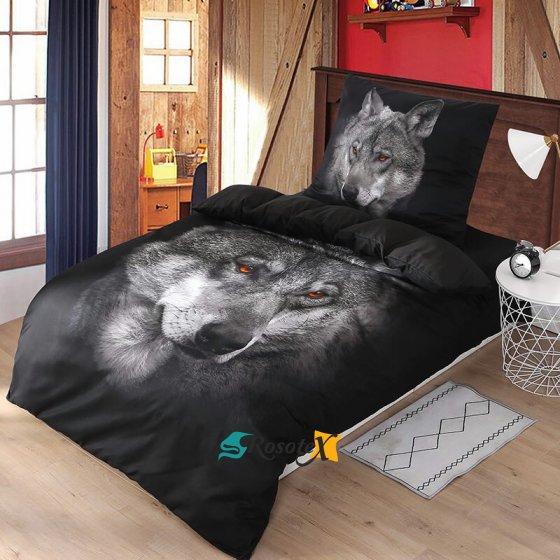 Ložní povlečení 3D Vlk