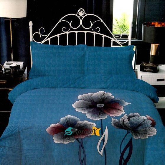 Posteľné obliečky FLOWER tyrkysové 3 set 140x200cm