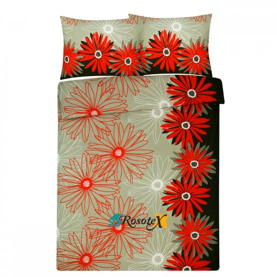 bavlnene obliecky bloom red 140x200cm