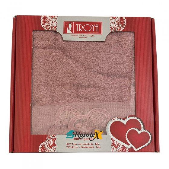 Darčekové balenie uterák / osuška froté Deluxe staro ružová