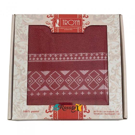 Darčekové balenie uterák / osuška froté Deluxe bordová
